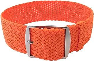 Wrist and Style Perlon Watch Strap ? Orange | 22mm