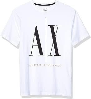 Armani Exchange Men's 8NZTPA T-Shirt, Multicolour (White W/black/bronze 5101), Medium