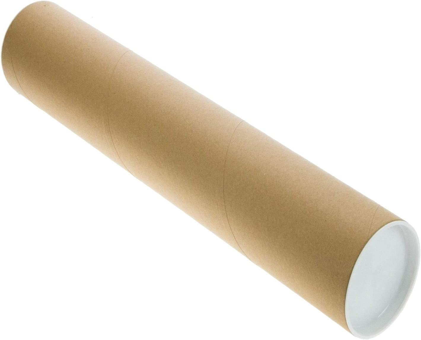 Mailing Tubes with Caps 3-inch x 36 Pack Latest safety item inch 3 usable Length