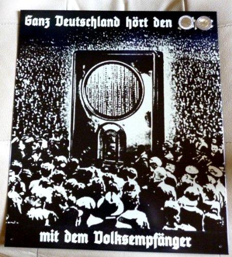 Radiowerbung Radio Volksempfänger Blechschild ca. 33 x 39 cm
