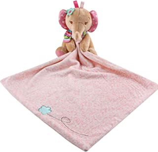 Baby Security Blanket Comforter (Pink Elephant) by MamaBaby, 100% Cotton Soft and Cuddly (Pink Elephant)