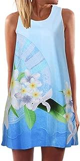 Boomboom Women Summer Sleeveless Vintage Short Dress Size S~XXXL