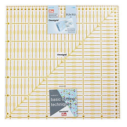 Prym Universal 31,5 x 31,5 cm Omnigrid Lineal, Kunststoff, transparent