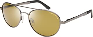 Eagle Eyes Explorer Aviator Sunglasses- UVA, UVB and Blue Light Blocking Protection - Gunmetal Frames