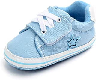 XYAN Baby Shoes Breathable Slip Soft Rubber Soles Paste Round Outdoor (Color : Light blue, Size : 13cm)