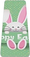 BestIdeas Yogamat Schattige Pasen-Bunny-On-Polka-Dot-Achtergrond voor yoga, pilates, vloeroefening Mannen Vrouwen Meisjes ...