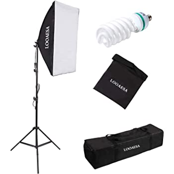 AchieveUSA 2 x 85W Continuous Bulb Light Softbox Photography Lighting Kit