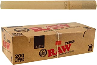 RAW Classic Natural Unrefined Rolling Paper - Pre Rolled Tubes (Regular)