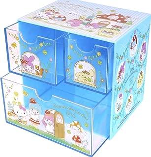 $40 » Mix Characters Hello Kitty etc Compact Desktop 3-Drawers Organizer Storage Box Jewelry Cosmetic Craft Gadget Medicine Plastic Case