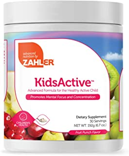 Zahler KidsActive, Kids Concentration Formula Powder, All Natural Children's Supplement Supporting Focus and Attention, Ce...