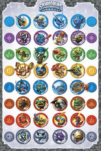 Skylanders - Compilation Jump and Run Giants Videospiel, Maxi-Poster, Druck, Poster - Grösse 61x91,5cm