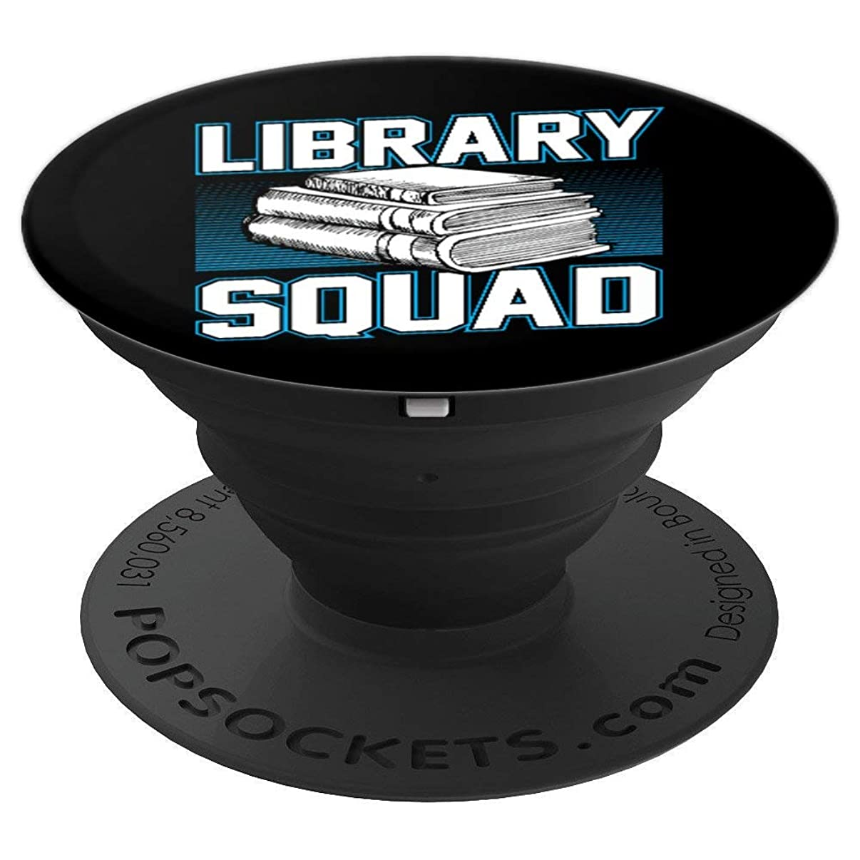 Library Squad Funny Librarian Reading Gift PopSockets Grip and Stand for Phones and Tablets