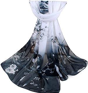 Xukmefat Sciarpa di seta da donna Sciarpa leggera Sciarpa di luna piena grande in raso quadrato