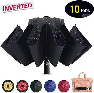 Refrze Umbrella Windproof Inverted Umbrella, Reverse Umbrella,Travel Umbrella,Folding Reverse Umbrella,Compact Umbrella - Auto Open Close Portable Reverse Umbrellas for Outdoor