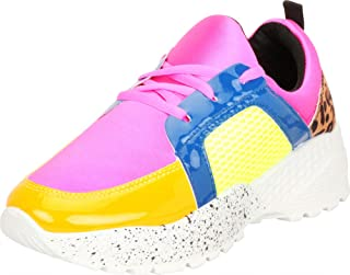 Cambridge Select Women's Low Top Lace-Up Retro 90s Ugly Dad Colorblock Chunky Platform Fashion Sneaker