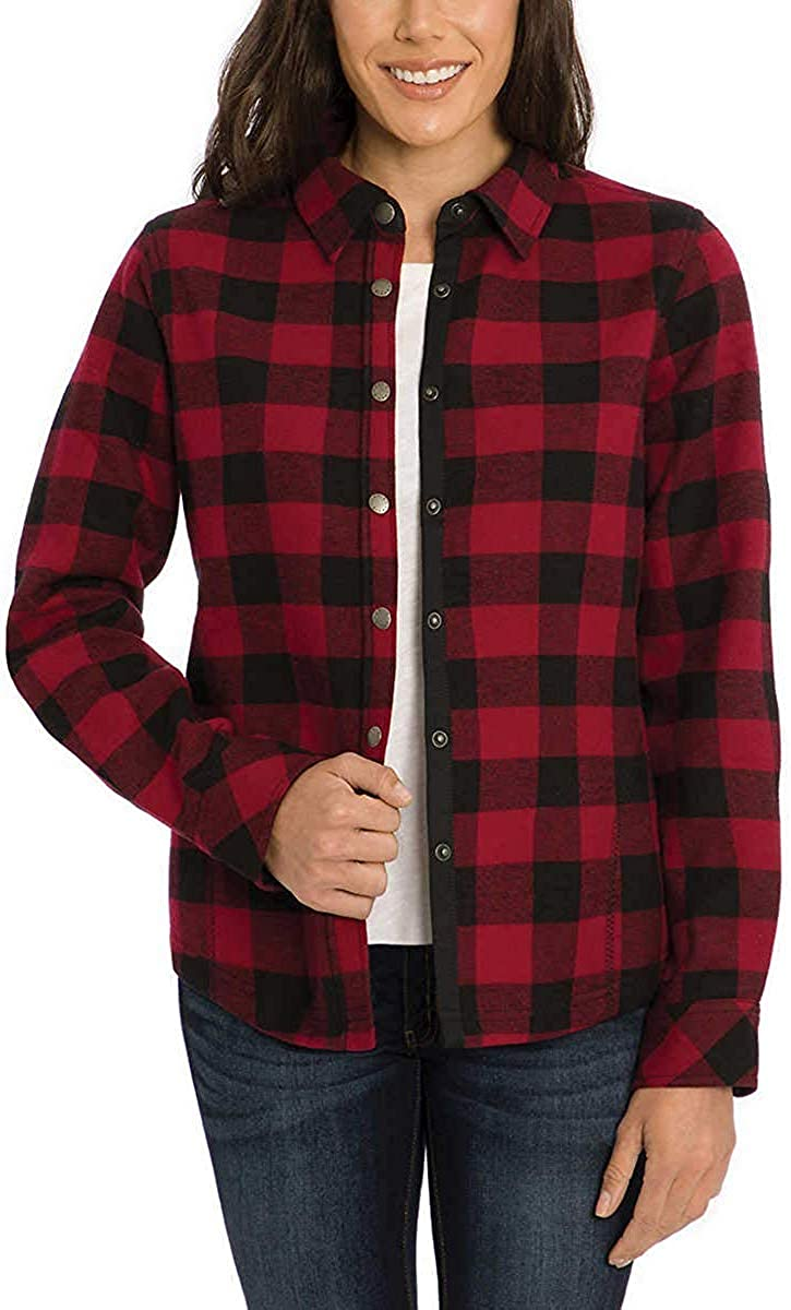 Orvis Womens Fleeced Lined Jacket Shirt 美品 Flannel 限定特価 Pinnacle