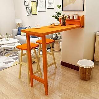WEHOLY Table Pliante Murale Table de Salle à Manger Murale, Table à Feuilles caduques, Plateau Pliable, Table Pliante en B...