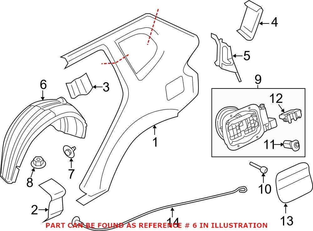 Genuine OEM SEAL limited product Rear Passenger Right New Orleans Mall Splash Panel Shield For Quarter
