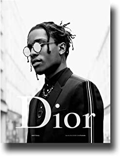 ASAP Rocky Poster Publicity Promo 16x25 inches Glasses Black and White Print Sticker Retro Unframed Wall Art Gifts 40x63cm