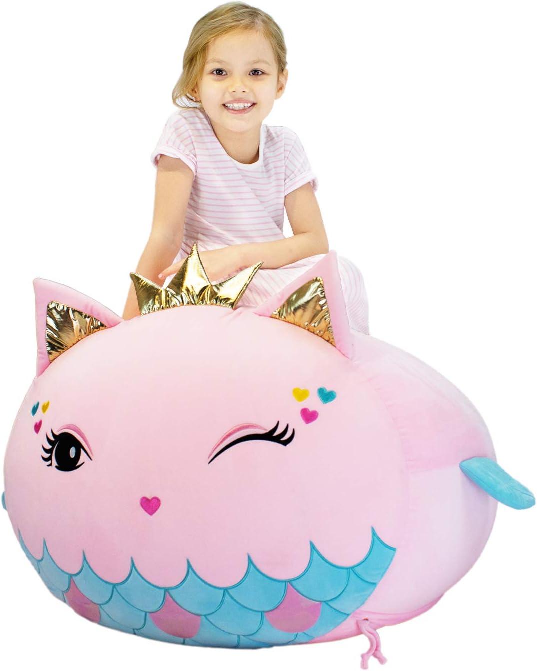Yoweenton Mermaid Stuffed Animal Toy Kids Storage Cheap sale Very popular Cha Bag Bean