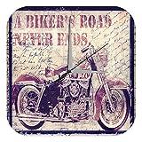 LEotiE SINCE 2004 Wanduhr mit geräuschlosem Uhrwerk Dekouhr Küchenuhr Baduhr Nostalgie Uhr Motorrad Used Look Bild Acryl Deko Vintage Retro