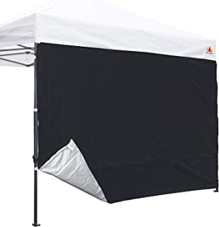 ABCCANOPY 10ft Silver Coated Back Wall for Commercial Level Pop Up Canopy Shade(1pc Black Wall only)
