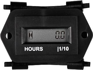 Medidor de horas LCD digital Runleader, AC 86 a 230V, diseño a prueba de agua, uso para cortacésped ZTR Tractor generador Carro de golf Club car Scrubber Marine ATV Compresor de motor y otros equipos con motor (AC86-230V)