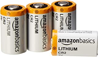 AmazonBasics Lithium CR2 3V Batteries, 4-Pack
