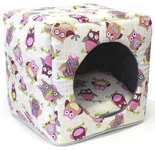 Croci Coussin Cube Hibou pour Chien 40 x 40 cm