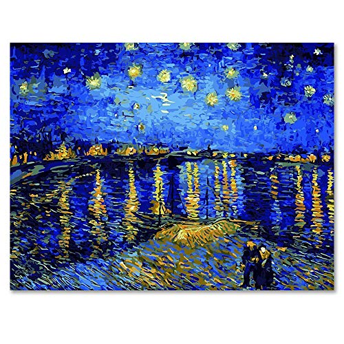 LIUDAO Paint by Numbers Kits 16x20 inches Canvas Painting for Adults & Kids Beginner
