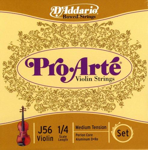 daddario violins D'Addario Pro-Arte Violin String Set, 1/4 Scale, Medium Tension