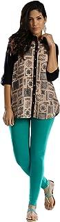 FashGlam Women Ankle Length Cotton Legging - Sea Green
