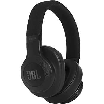 JBL E55BT Wireless Over-Ear Headphones with Mic (Black)