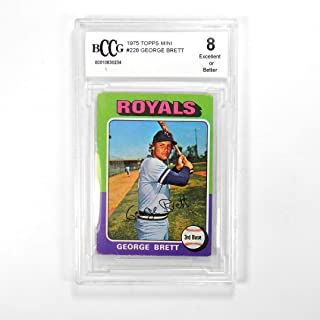 1975 Topps Mini George Brett #228 Kansas City Royals BCCG 8