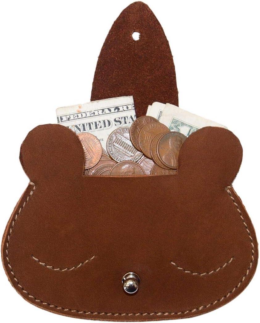 Hide & Drink, Sleepy Bear Leather Coin Pouch / Wallet / Card Holder / SD Organizer / USB Flash, Handmade Includes 101 Year Warranty :: Swayze Suede