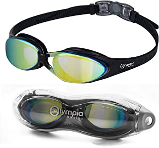 Olympic Nation Crystal Clear Comfortable Swimming Goggles with Anti-Fog Lenses, Swim Goggle for Adult Men Women Youth - Swim Like A Pro
