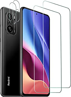 AFGLOOY 2 Pack, Compatible with Xiaomi Poco F3/ Redmi K40/ Redmi K40 Pro/Mi 11i Screen Protector, 2 Pack Tempered Glass an...
