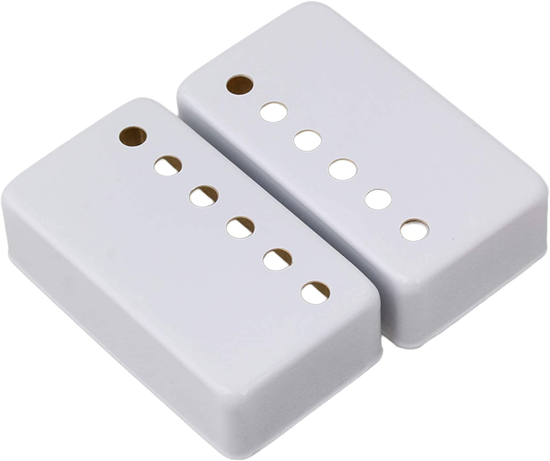 2PCS 50mm Neck service and 52mm Bridge Wh Set Pickup Covers Guitar Overseas parallel import regular item Metal