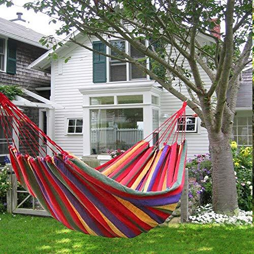 L.J.JZDY Piscine 190 * 150cm Hanging Portable Hamac Double Intérieur Accueil Chambre Chaise Lazy Camping en Plein air Balancelle Lit (Color : Rouge, Size : 1)