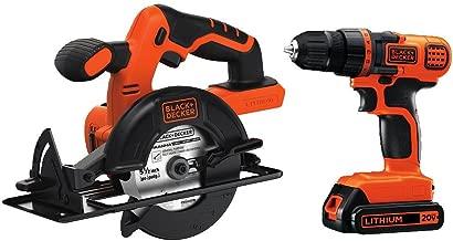BLACK+DECKER 20V MAX Cordless Drill/Driver Combo Kit w/ Saw (BD2KITCDDCS)