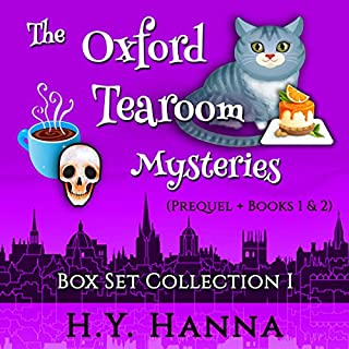 The Oxford Tearoom Mysteries Box Set Collection I     Prequel + Books 1 & 2              By:                                                                                                                                 H.Y. Hanna                               Narrated by:                                                                                                                                 Pearl Hewitt                      Length: 17 hrs and 35 mins     650 ratings     Overall 4.3
