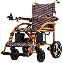 zdw New Lightweight Folding Portable Folding Remote Control Electric Wheelchair Motorized with Footrest and Batteries