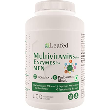Leafed Multivitamin for Men with 55 Vital Nutrients, 13 Performance Blends - 100 Vegetarian Tablets