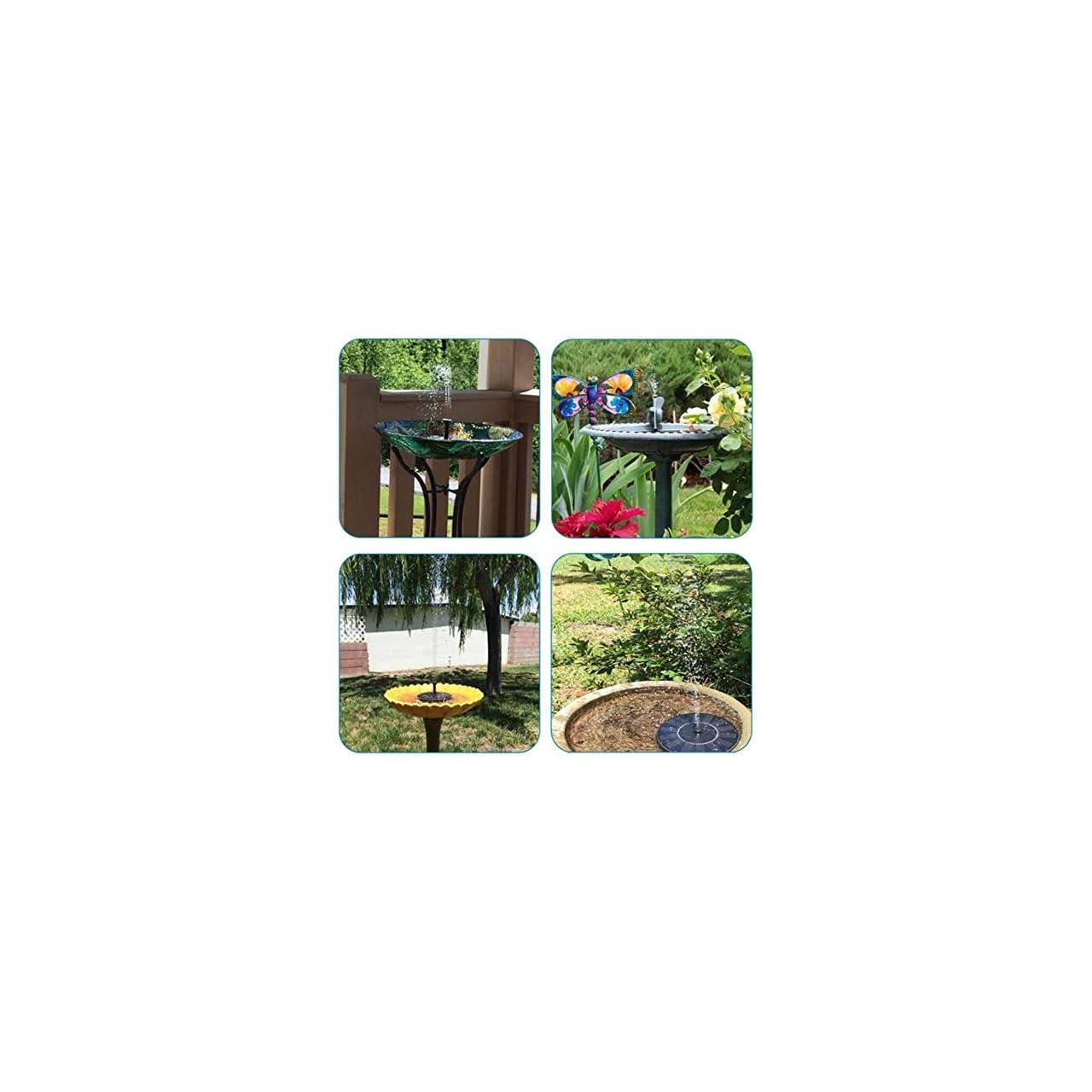 Kawai Solar Fountain Pump, Circle Solar Water Pump Floating Fountain for Outdoor Birdbath Ponds Pool Fish Tank Water Cycling Garden Decoration 19