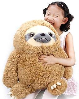 Kids Stuffed Sloth Toy Giant Sloth Bear Plush Sloth Stuffed Animal Toy Baby Doll Kids Gift Birthday 19.7 inches Detazhi