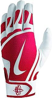 Nike Men`s Huarache Edge Batting Gloves White/University Red Size Large