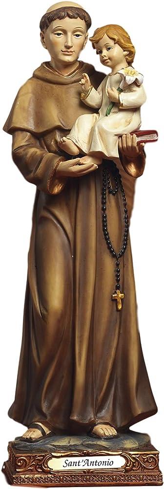 paben import srl, statua di sant`antonio da padova,  32 cm pab20/pb0098