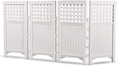 Best white resin privacy screen Reviews