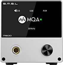 S.M.S.L M500 DAC Headphone Amp Supports MQA decoding ES9038PRO D/A chip USB Uses XMOS XU-216 with Remote Control (Silver)