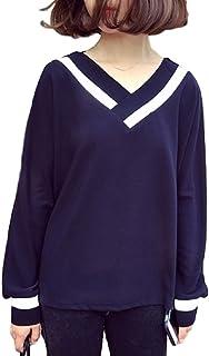 (チョロモ) Cholmo レディース カジュアル 長袖 Tシャツ トップス Vネック 冬 コーデ 快適 ゆったり 通勤通学 プルオーバー